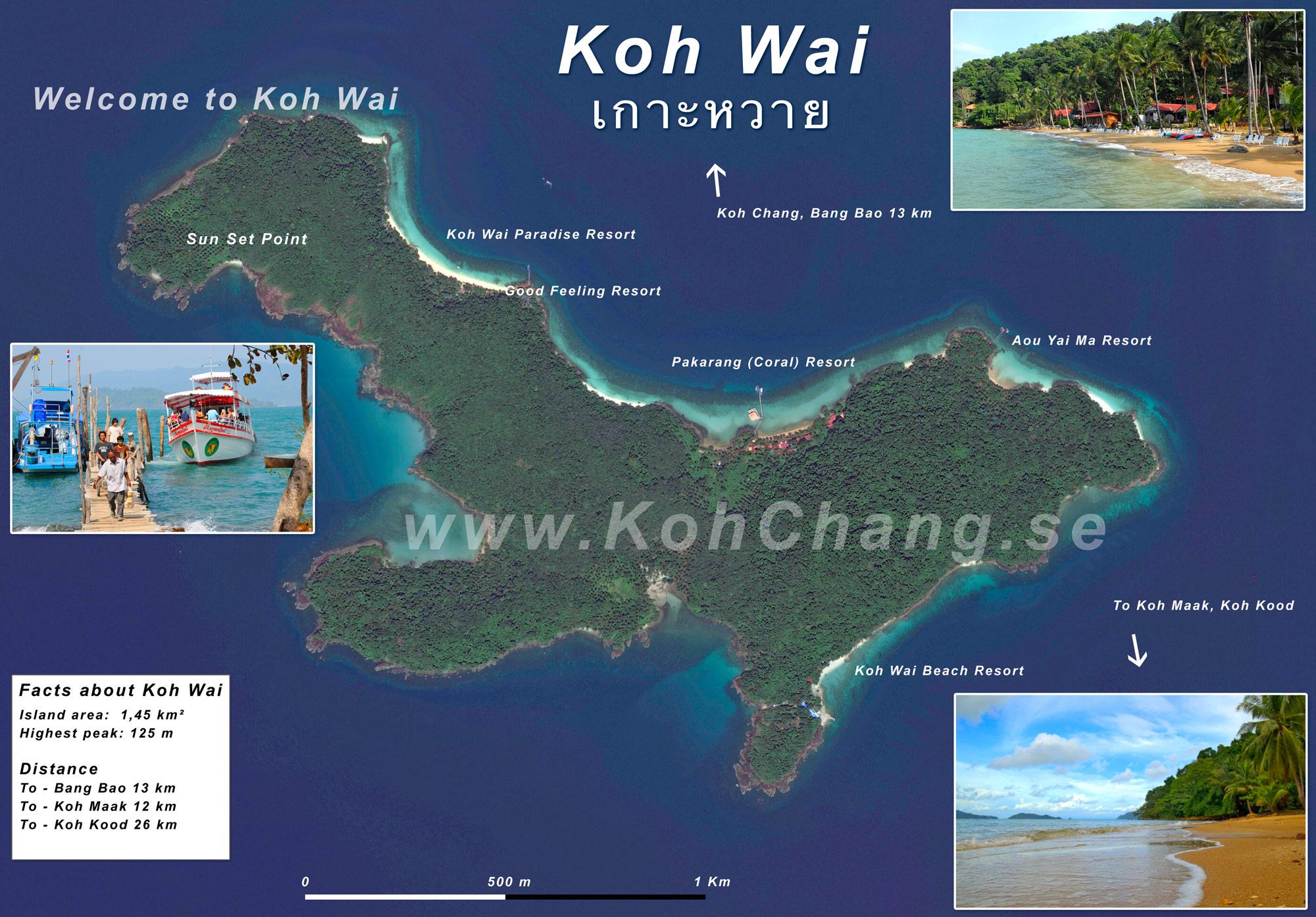 Karta Centrala Thailand.Koh Chang Allt Om On Nu Med Filmer Flygbilder